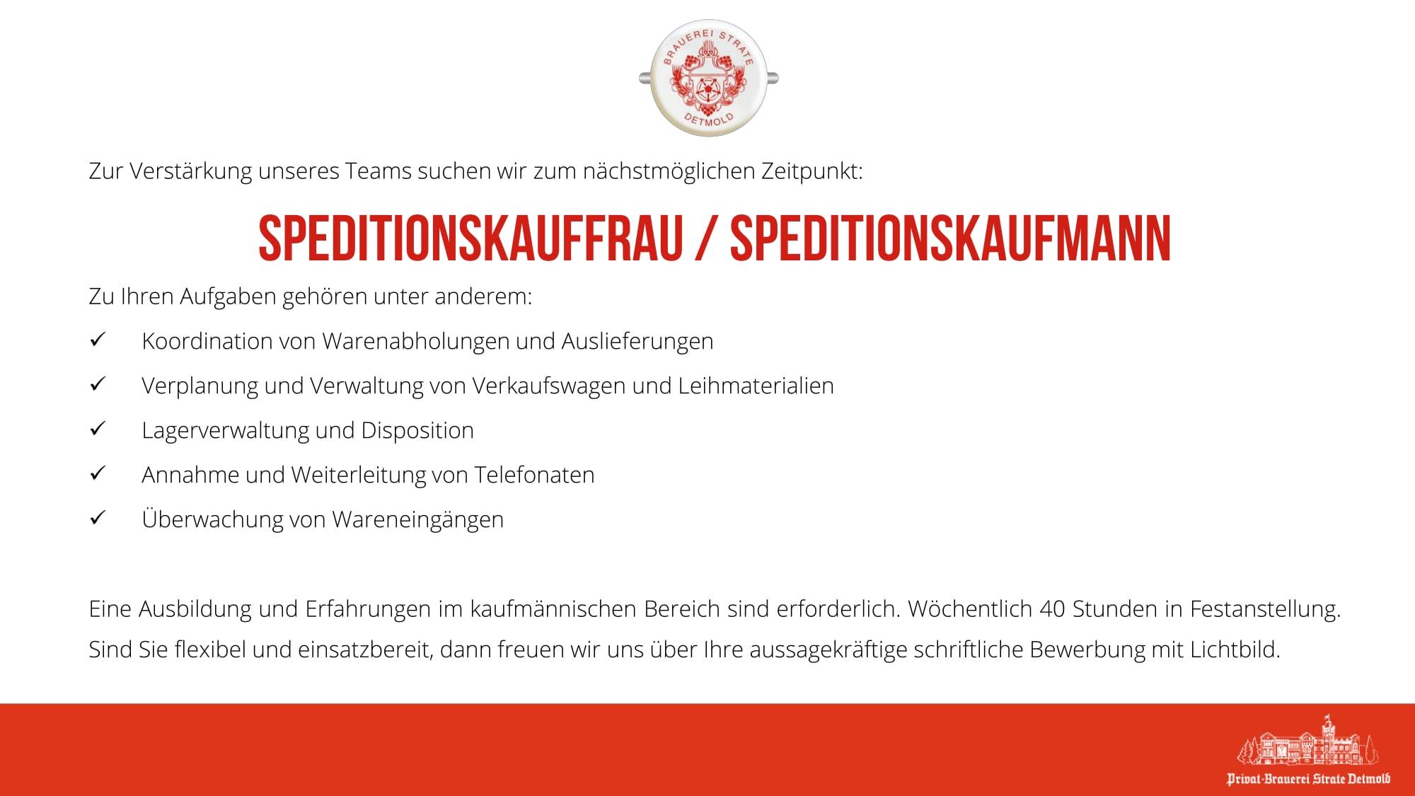 speditionskauffrau speditionskaufmann - Bewerbung Speditionskaufmann