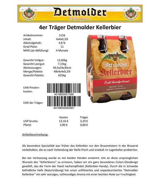 Artikelpass - 4er Träger Detmolder Kellerbier Image