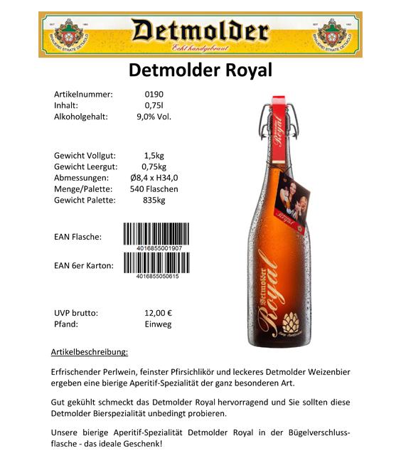 Artikelpass - Detmolder Royal Image