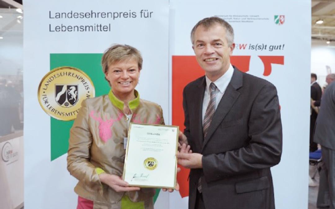 """""""Landesehrenpreis für Lebensmittel NRW"""" 2013 in Gold!"""
