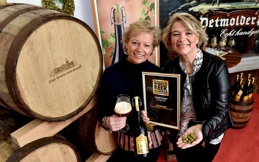 """Strate's Gourmet-Bier """"Detmolder Chardonnay-Hopfen"""" gewinnt World Beer Award!"""