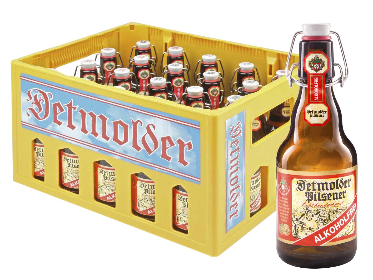Detmolder Pils Alkoholfrei Kasten mit Flasche Image