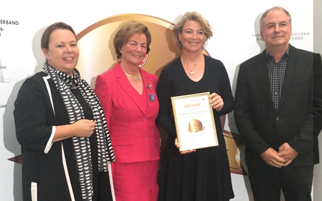 Brauerei Strate ausgezeichnet mit dem Meister.Werk.NRW 2018