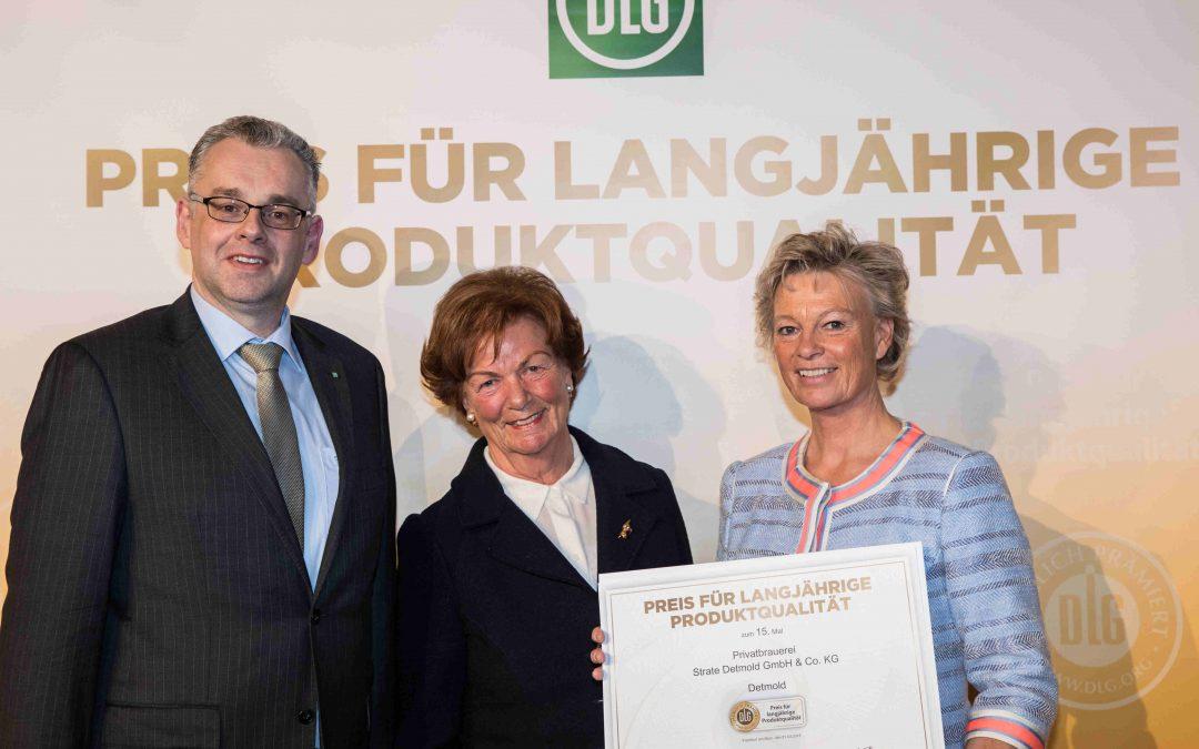 Privatbrauerei Strate aus Detmold erhält Preis für langjährige Produktqualität