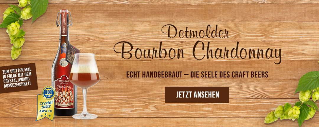 Crystal Award Auszeichnung für Detmolder Bourbon Chardonnay