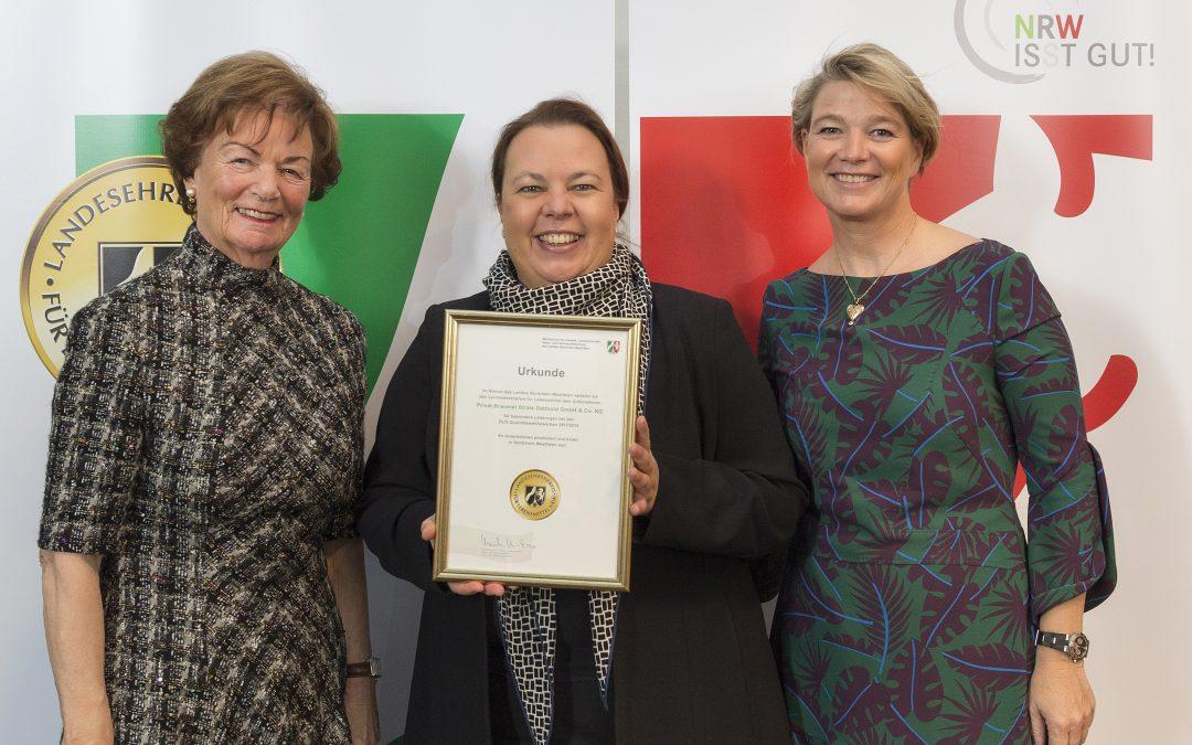 Landesehrenpreis für Lebensmittel NRW 2018