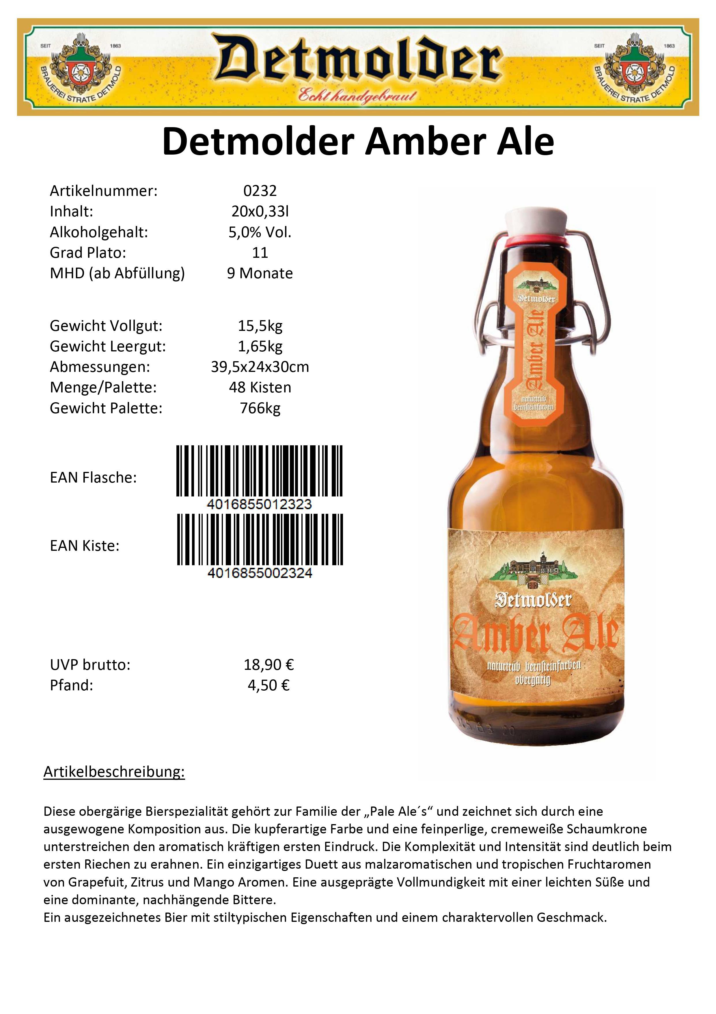 Artikelpass - Detmolder Amber Ale Image